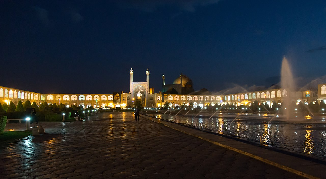 Shah mosque in Naghshe- jahan square in Isfahan