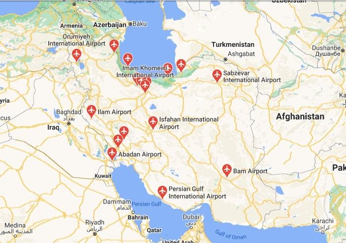Iran international airports