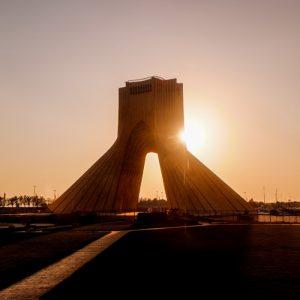 sunset-view-azadi-tower-tehran-iran