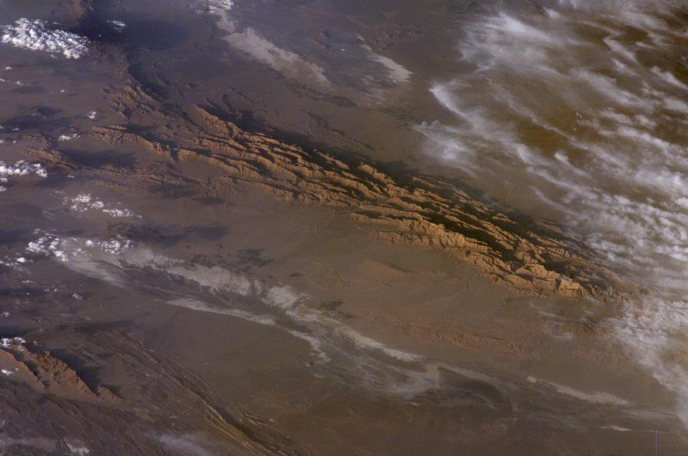 Winter in lut desert, the UNESCO world heritage
