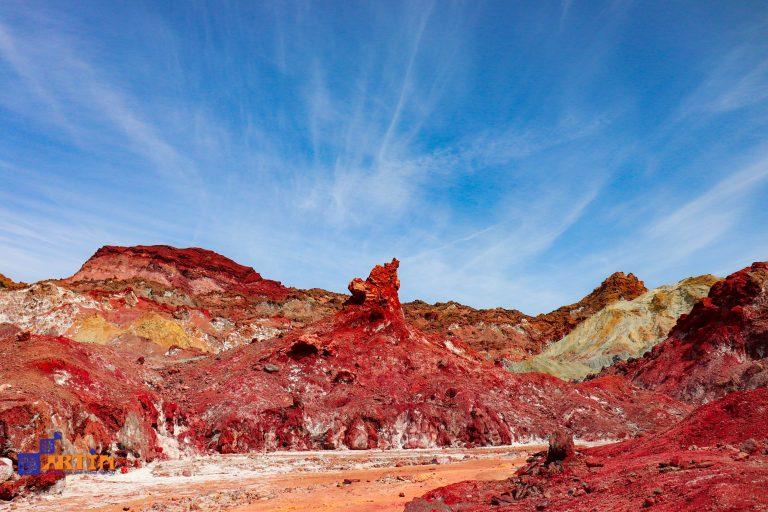 Hormuz island red soil Iran tourist destination
