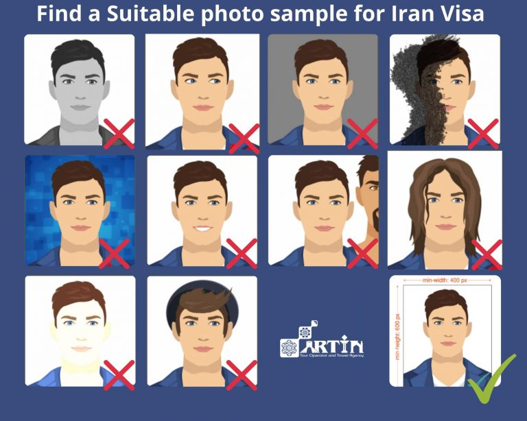 Standard photo for iran visa