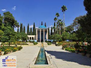 tomb saadi shiraz city iran