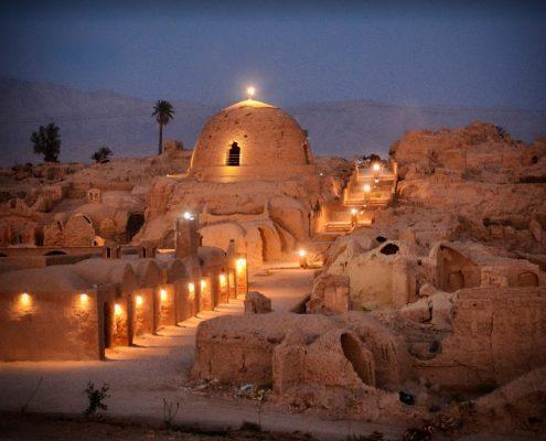 local houses in Tabas village- kerman province in iran desert area