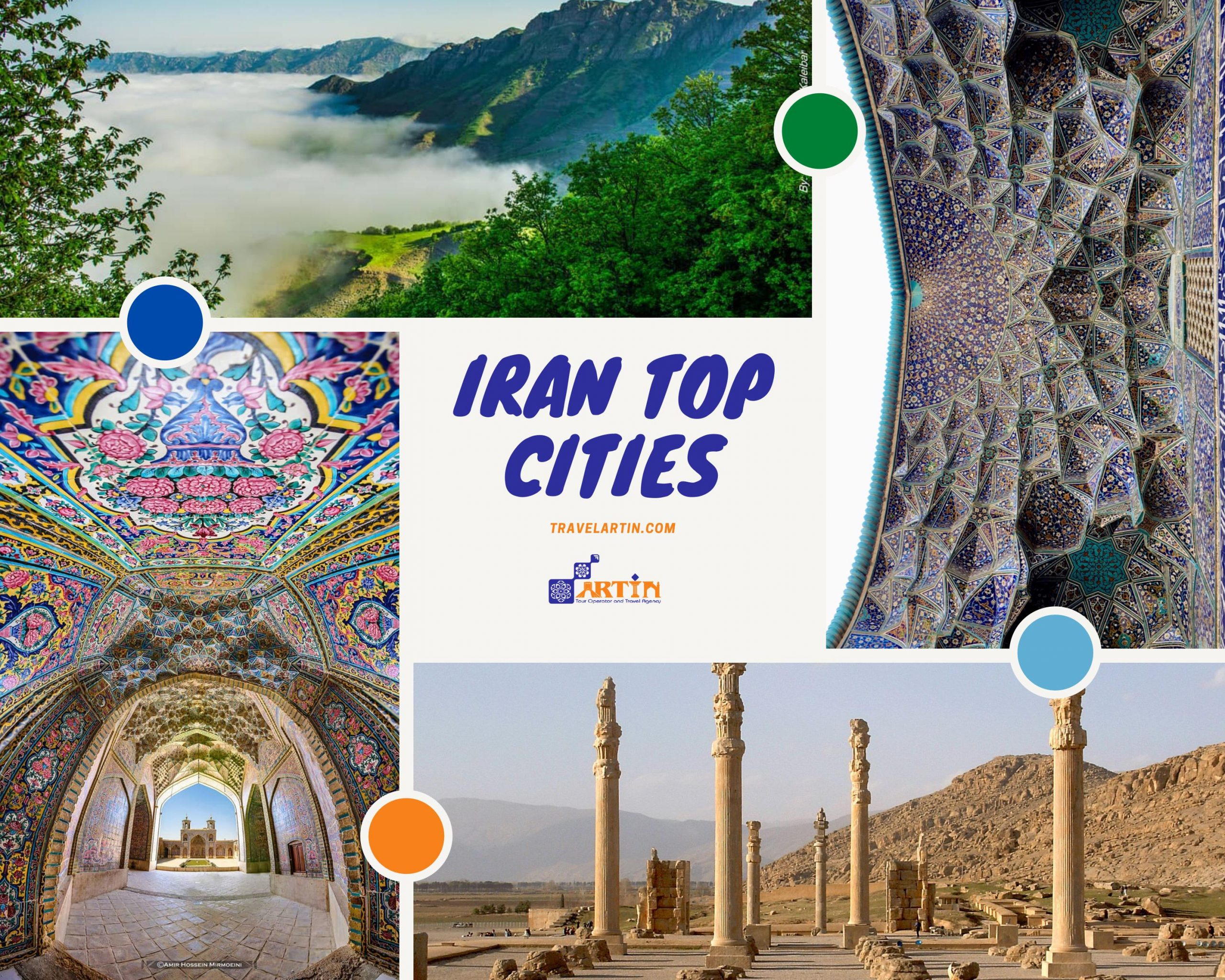 Iran top cities for travelers