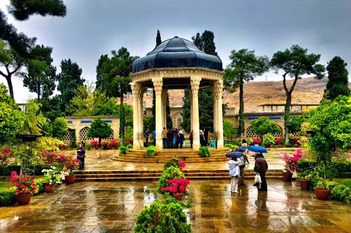 Hafez tomb is surrounded by a garden in Shiraz- city tours