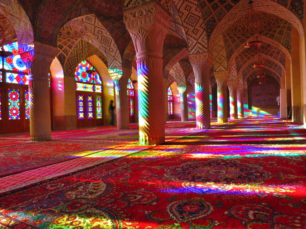 pink mosque in Shiraz city tours- daily tours in iran- travelaertin.com