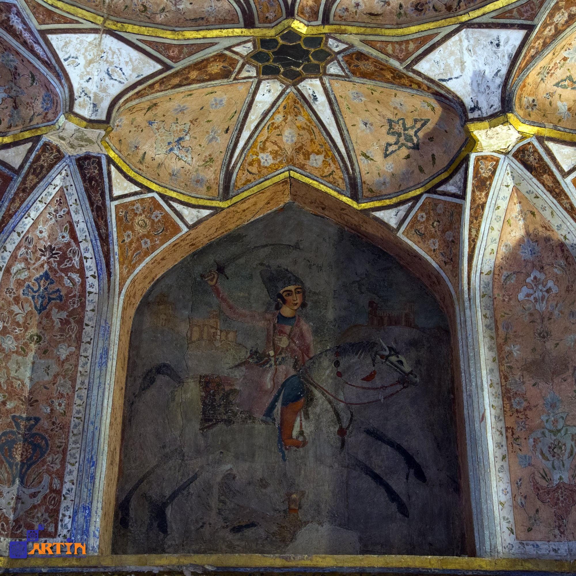 wall arts of hasht behesht royal palace in Isfahan