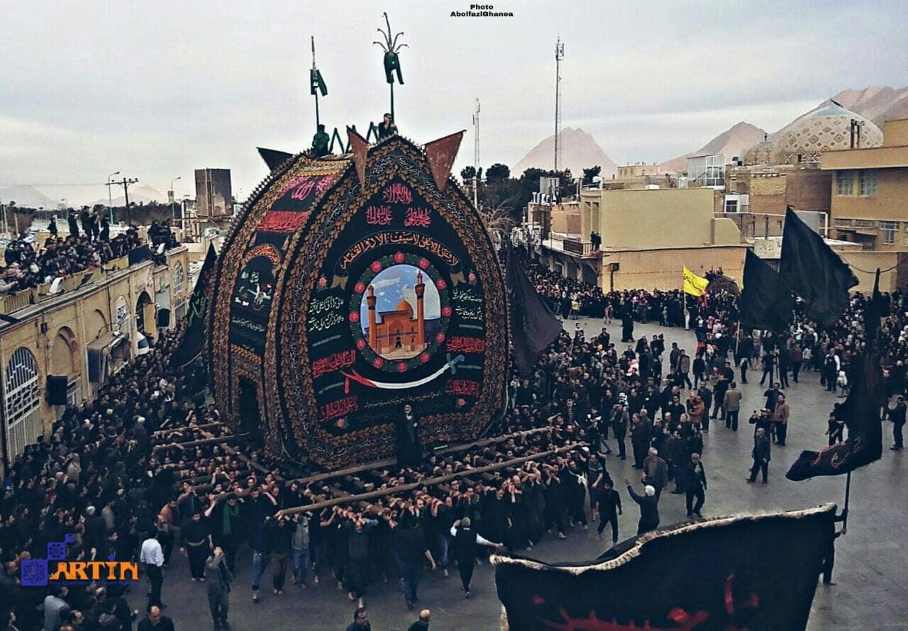 Yazd ceremony during Ashoura Nakhl Bardari