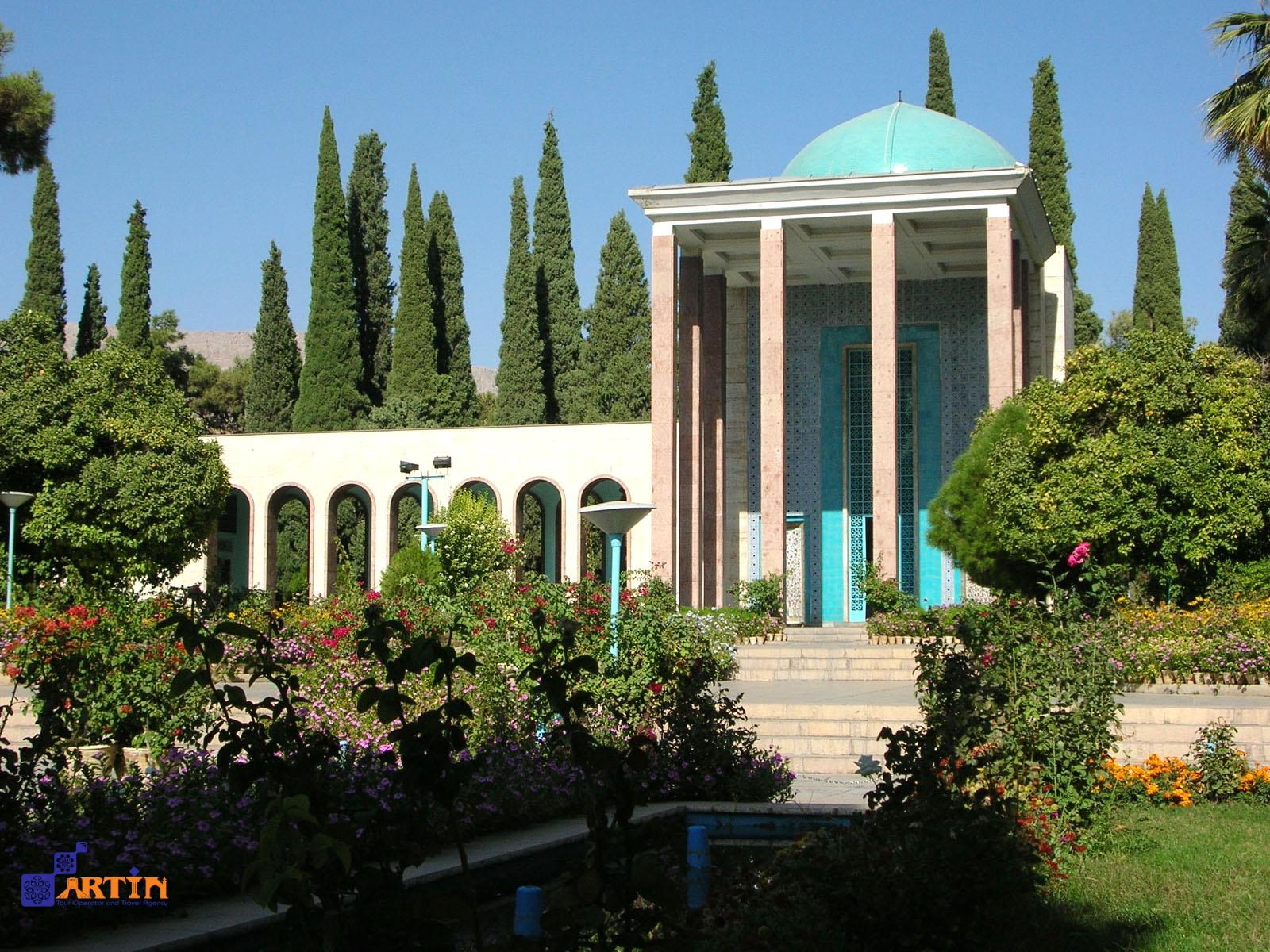 Saadi tomb in Shiraz