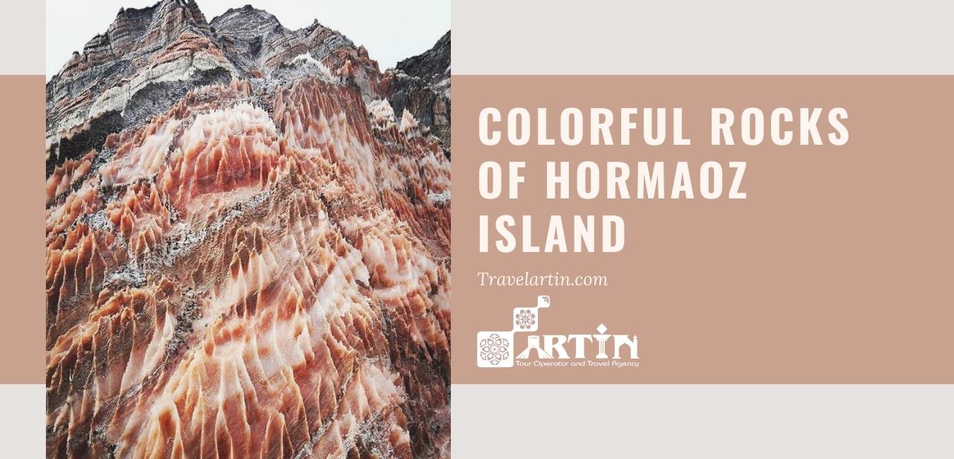 colorful salt rocks of hormoz island