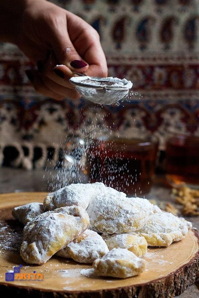 Yazd foods to try Qottab pastry travelartin.com