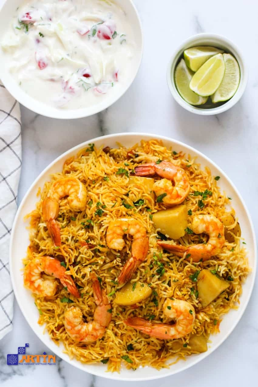 Shrimp middle eastern food Iran dishes