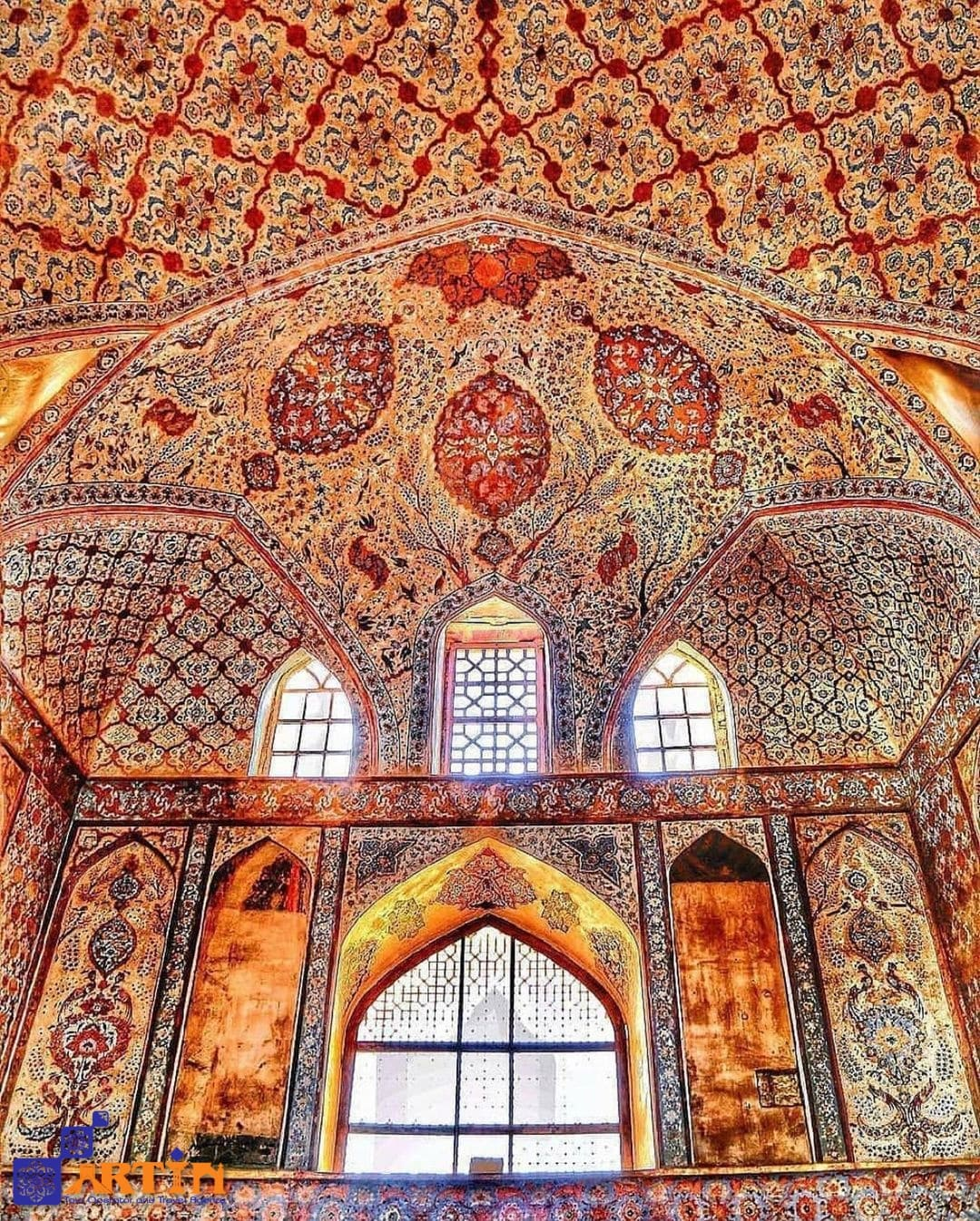 Ali Qapu palace in Iran travel and tour