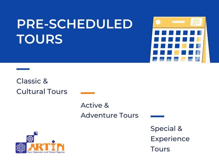 prescheduled tours - Artin travel