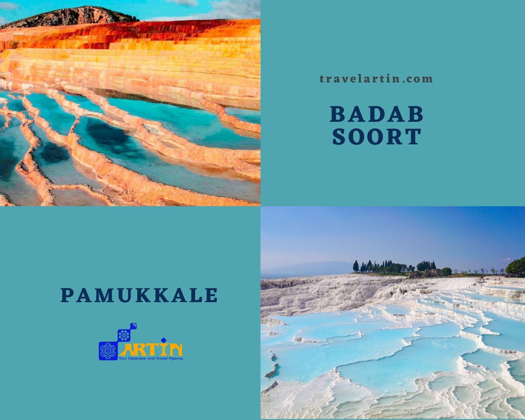 travel to Iran from turkey badab soort vs Pamukkale