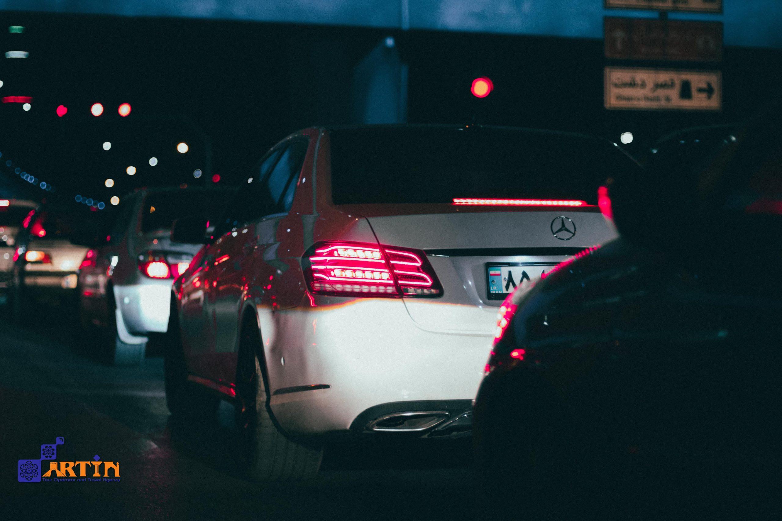 traffic in Iran roads Iran car rental fees