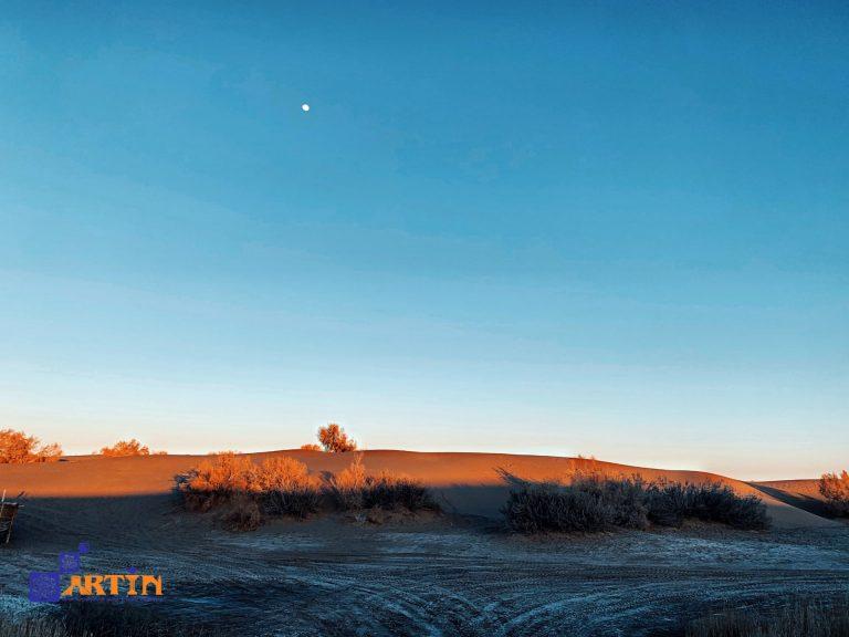 Kavir the great salt desert in Iran