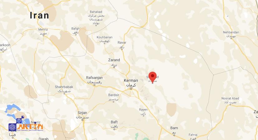Shahdad desert map travel to Iran
