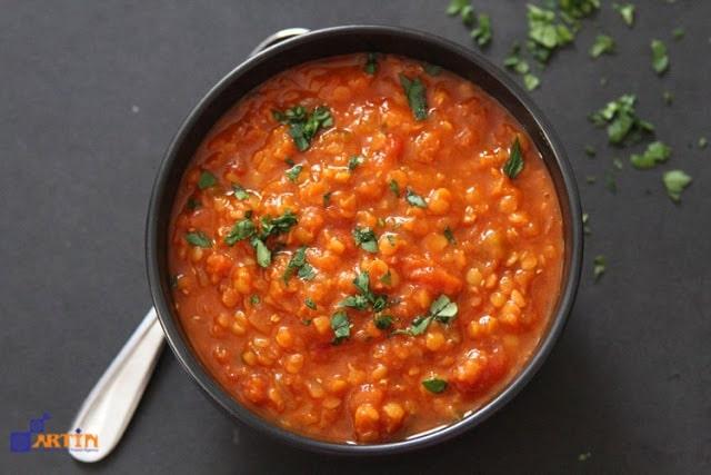 Dal adas Persian vegan food