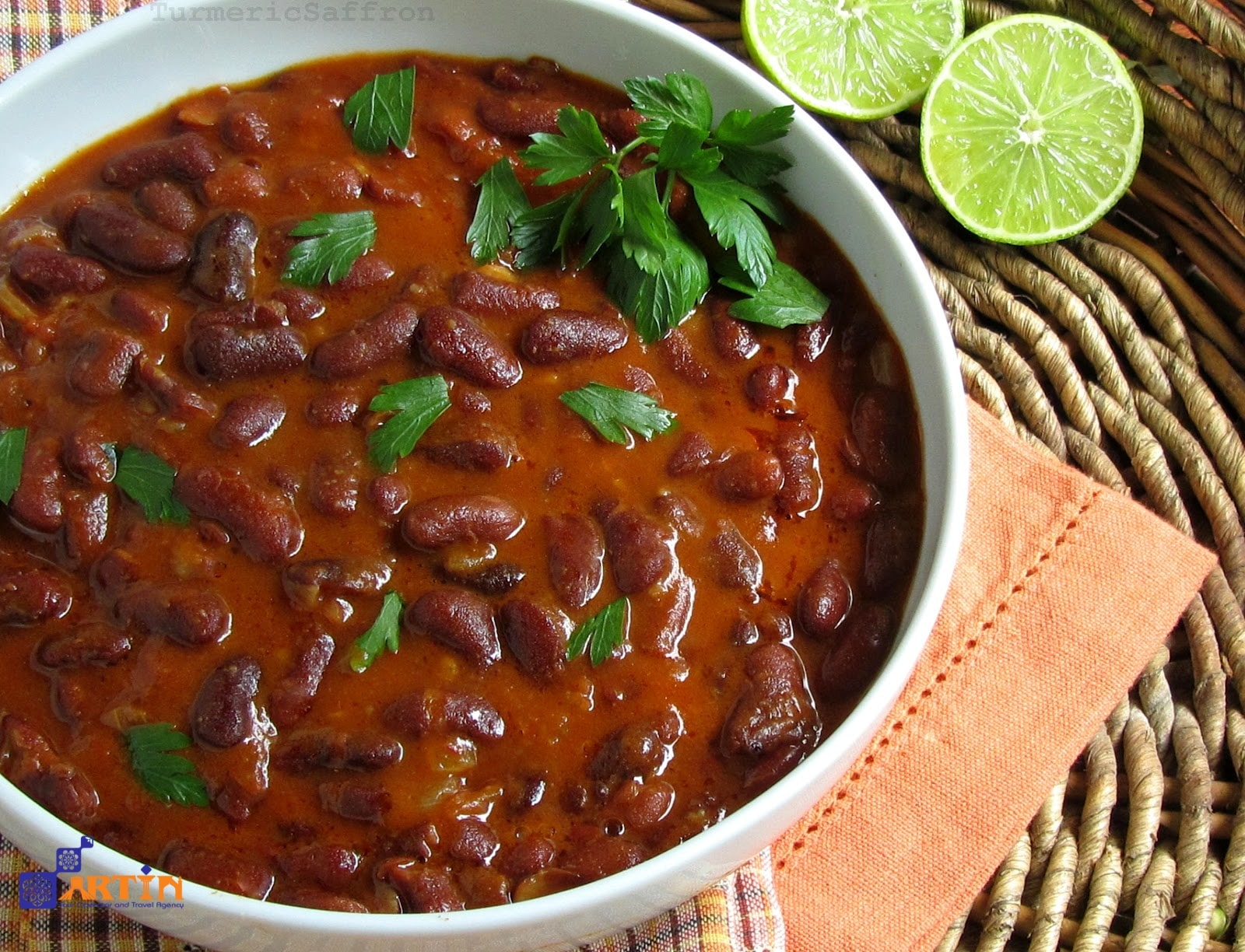Khorak-e Loobia bean soup Persian food