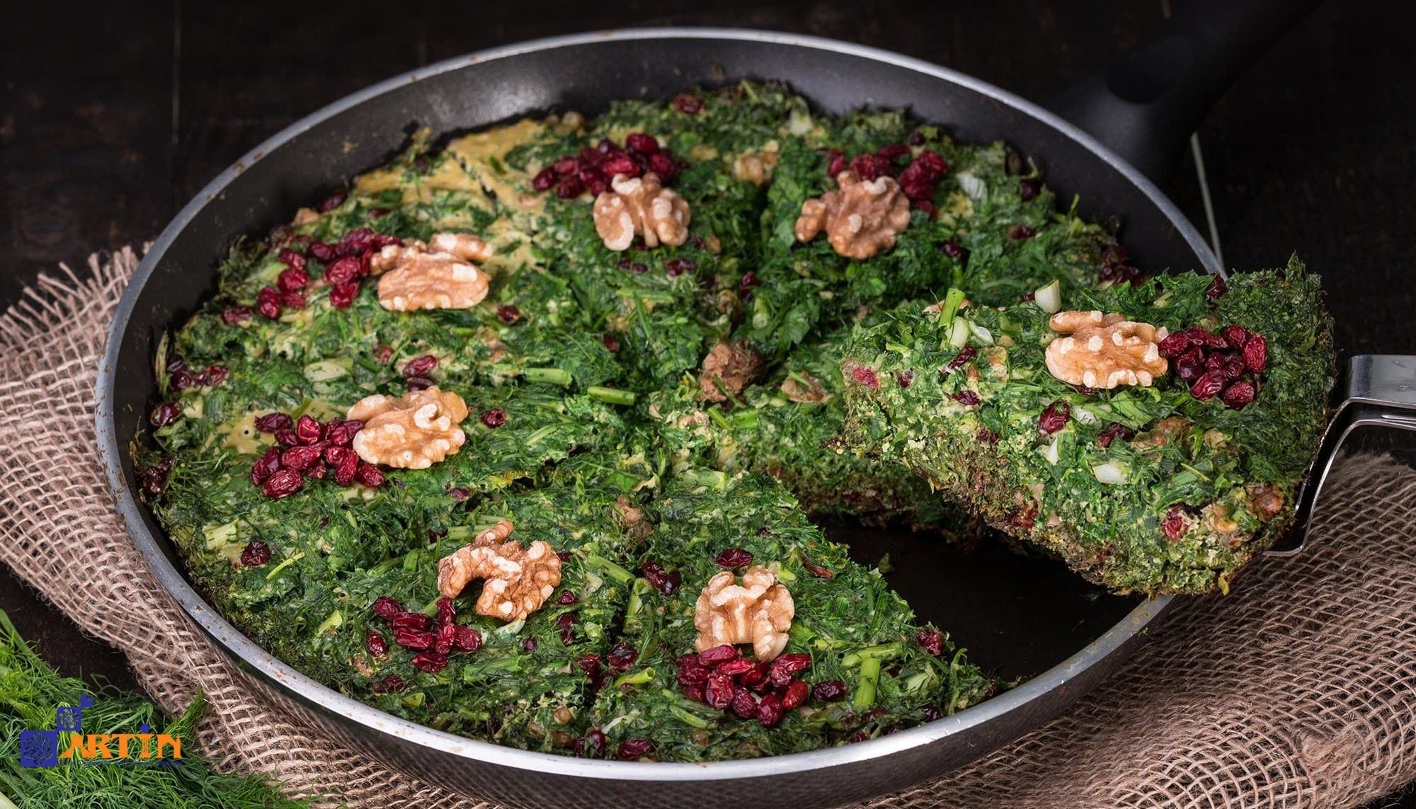 Kuku sabzi a vegetarian persian cuisine