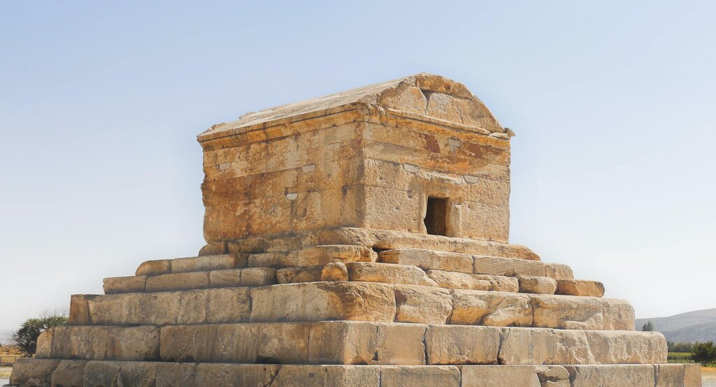 The tomb of Cyrus the Great in Iran Pasargadae