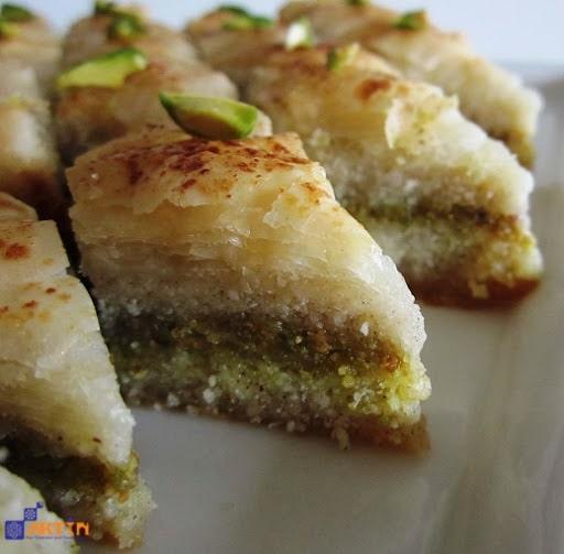 Yazdi baklava Persian sweet from Yazd city