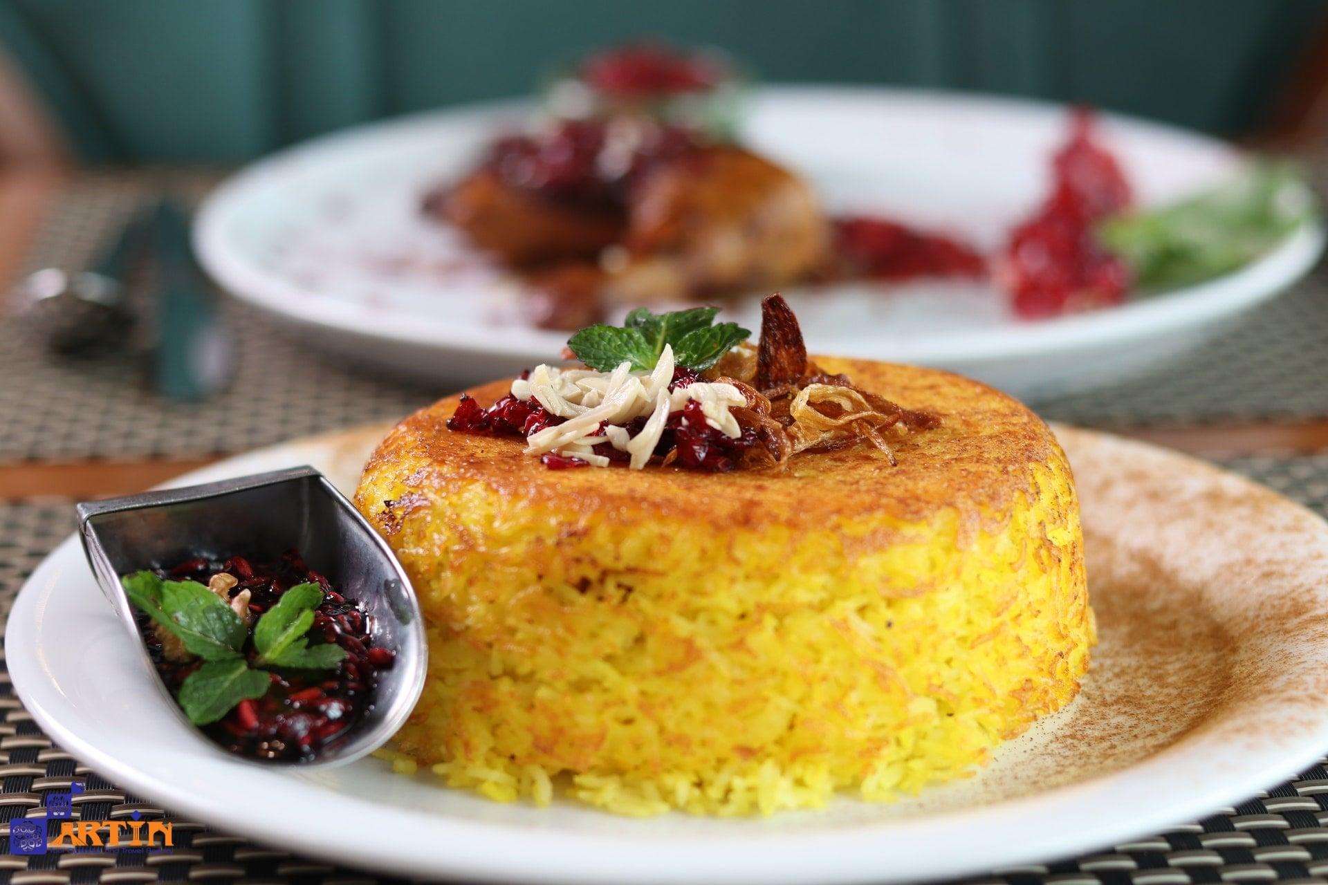 Tahchin delicious Persian dish