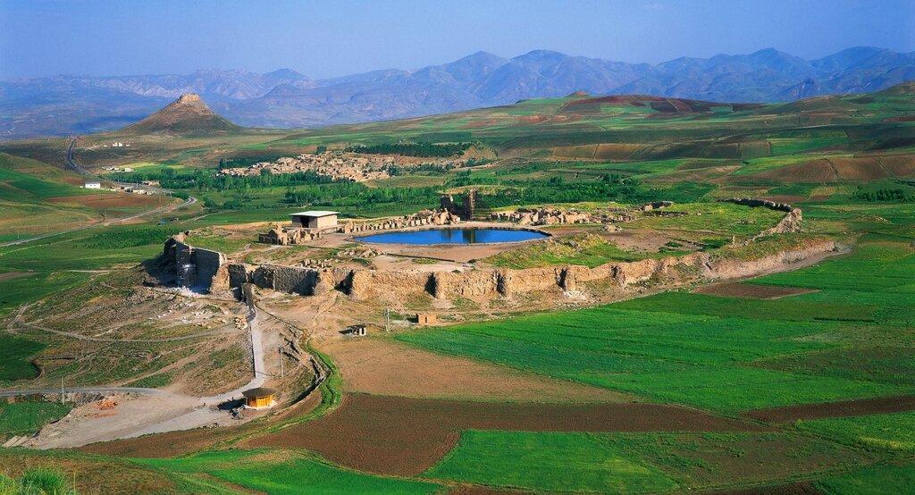 Solomon's throne in Iran UNESCO site Artin Travel