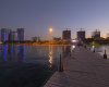 Kish island night scenery Persian Gulf
