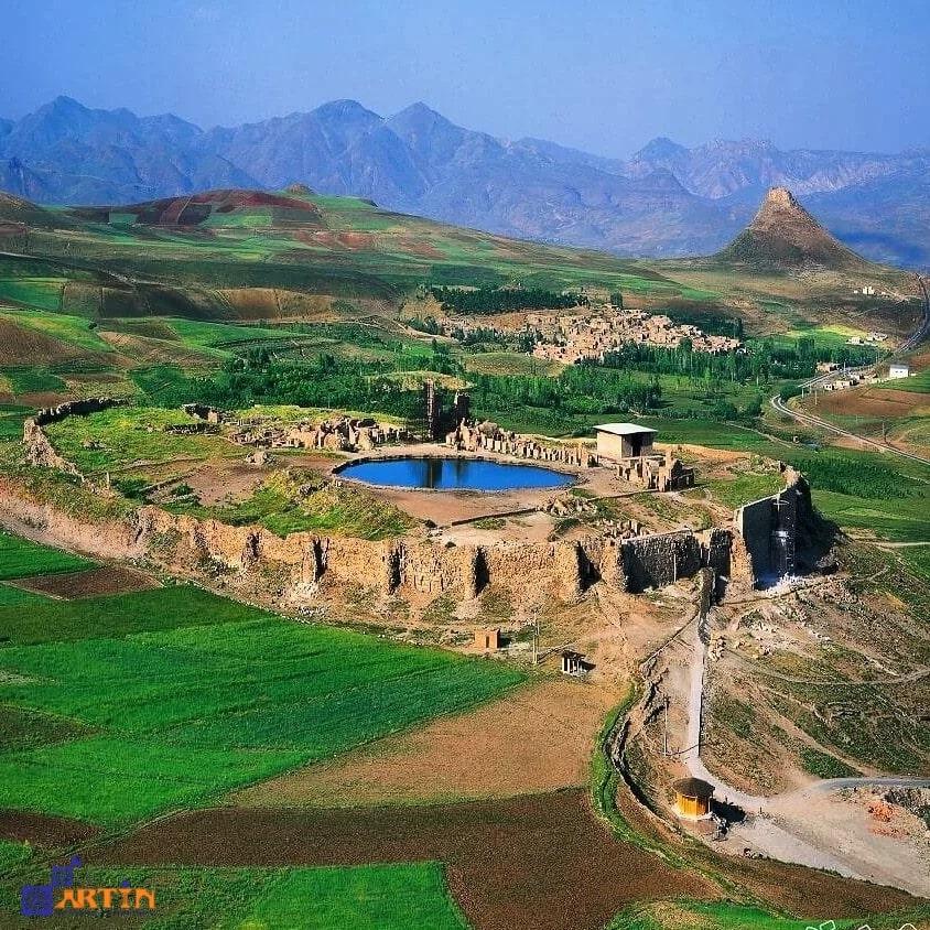 Takht e soleyman summer resort for tourists Iran