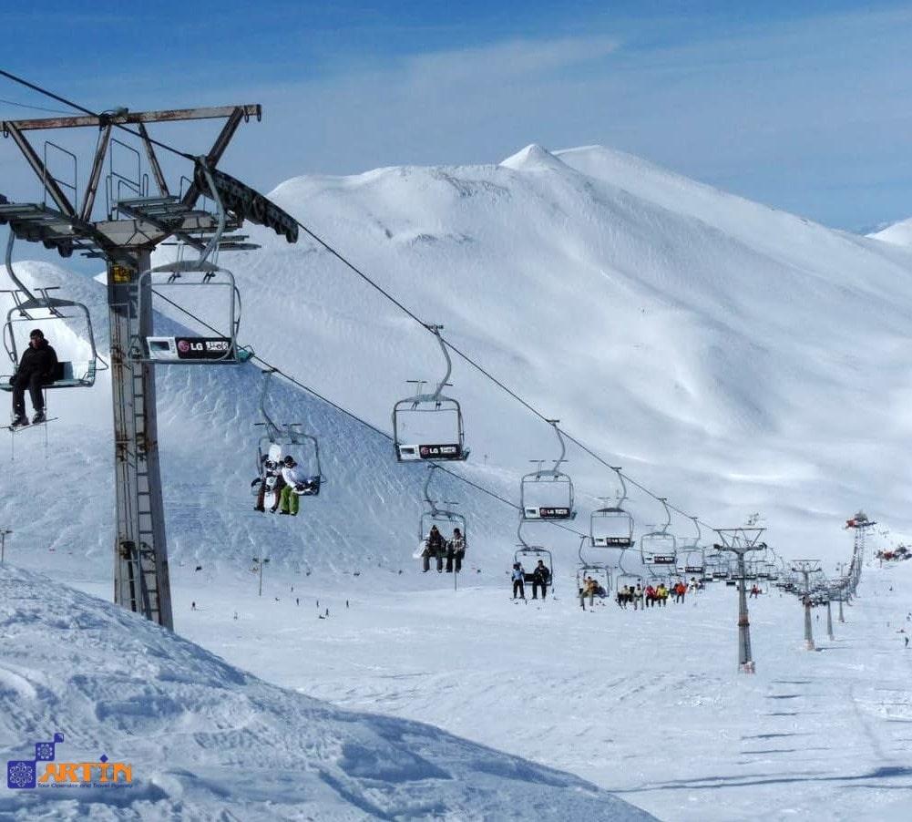 Tochal skiing Tehran best tours Iran
