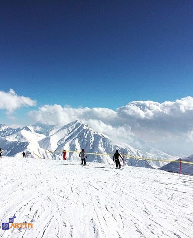 Darbandsar ski resort off piste skiing backcountry Iran